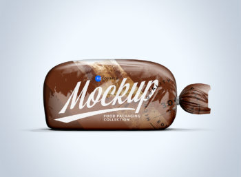 Plastic Bag with Clip for Bread Free Mockup