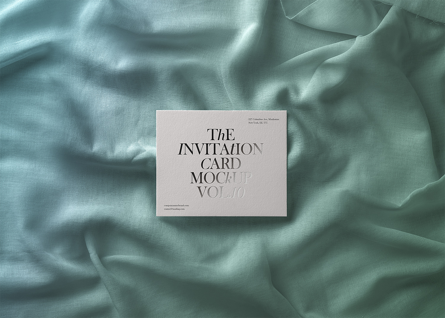Invitation Card Free PSD Mockup