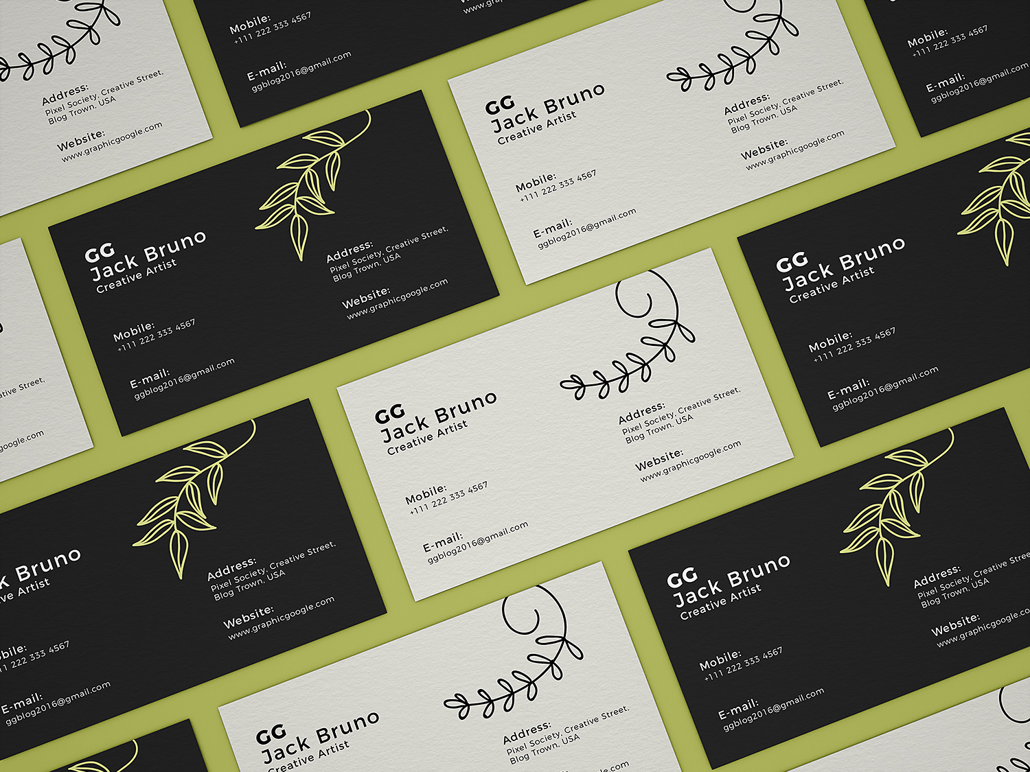 Stationery Business Cards Mockup