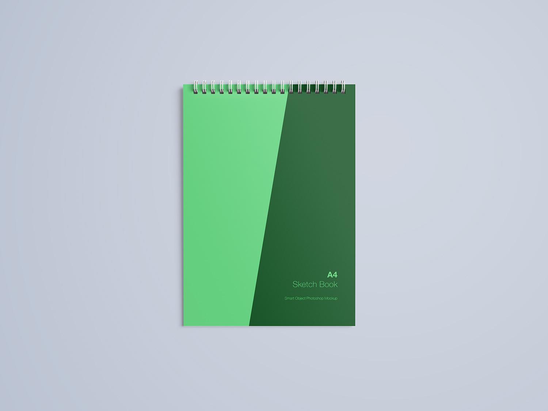 A4 Notebook Free Mockup