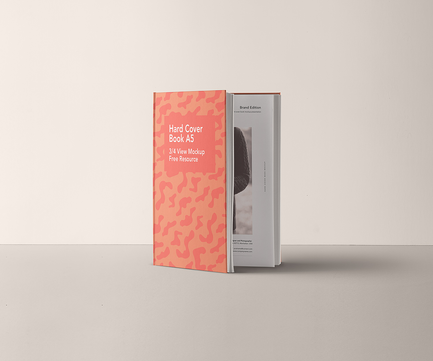 A5 Hardcover Book Free Mockup