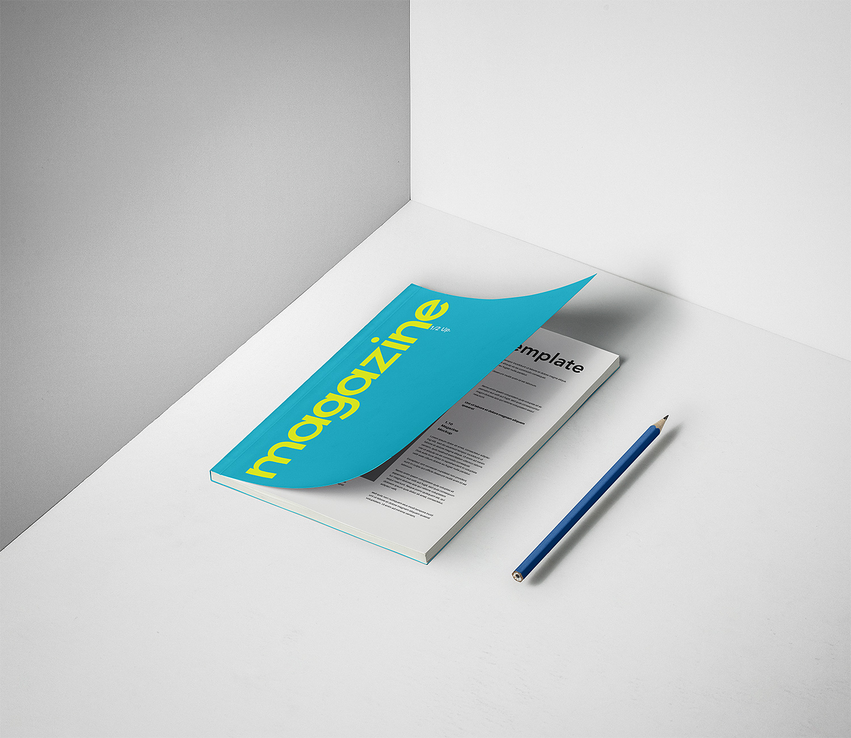 A5 PSD Magazine Free Mockup