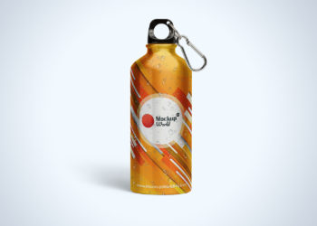 Aluminum Water Bottle Free Mockup PSD