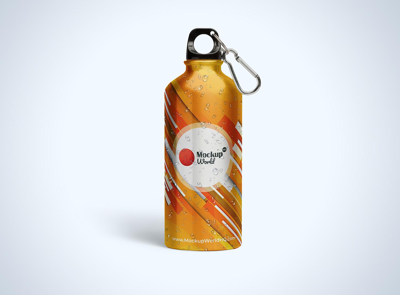 Aluminum Water Bottle Free Mockup PSD