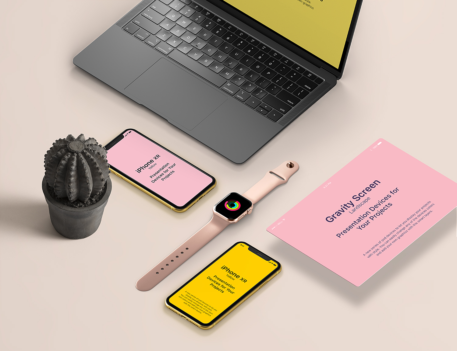 Apple's Devices Free Mockup for Project Showcase