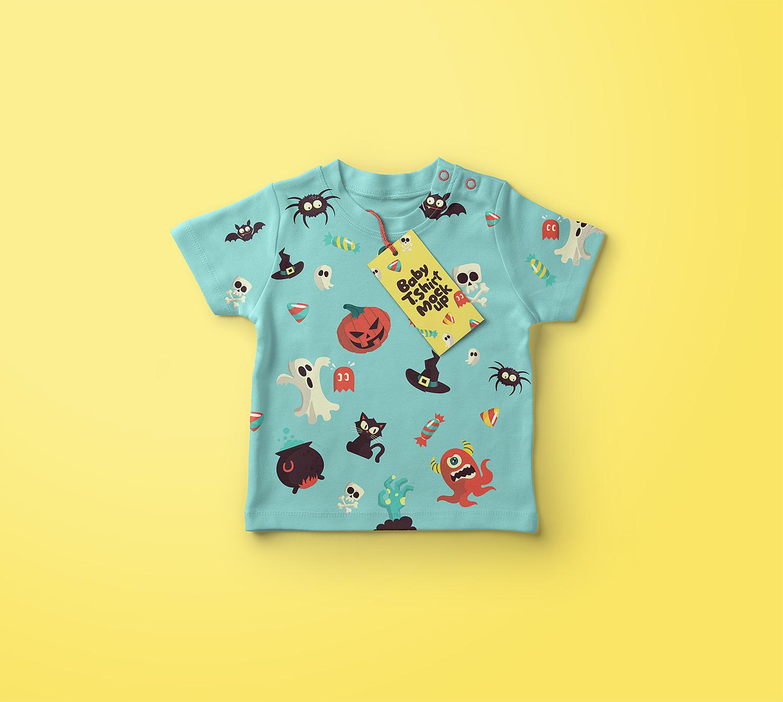 Baby T-Shirt Free Mockup