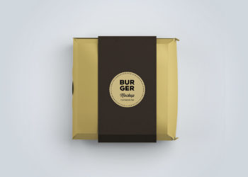 Burger Box Package Mockup