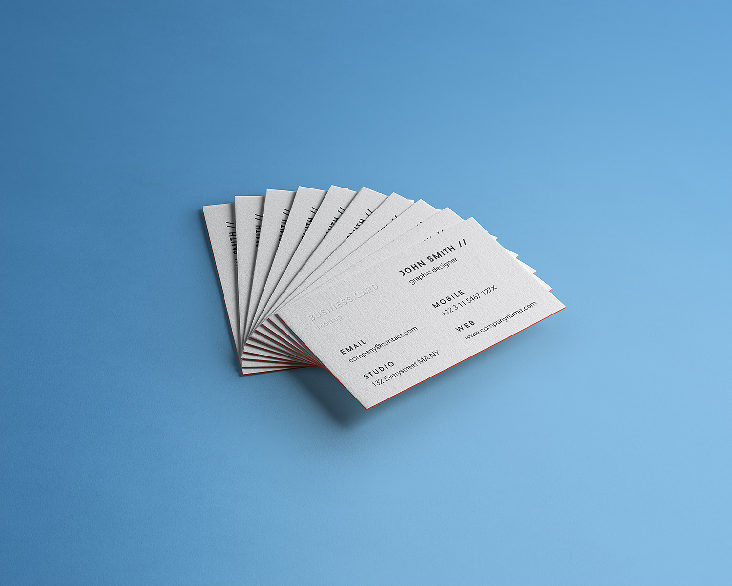 Business Card Branding Free Mockup