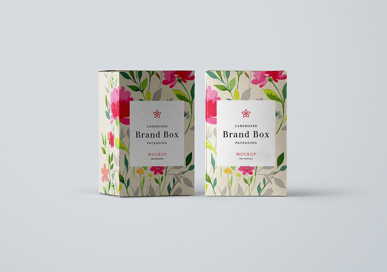 Cardboard Box Packaging Free Mockup