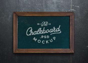 Chalkboard Mockup Free PSD