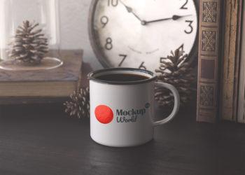 Enamel Mug Free Mockup