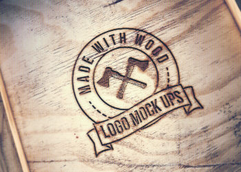 Engraved wood logo free mockup to showcase your branding logo design. Add your image to inside the smart object and enjoy your work. Have fun!