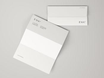 Envelope and A4 Folded Letterhead Mockup