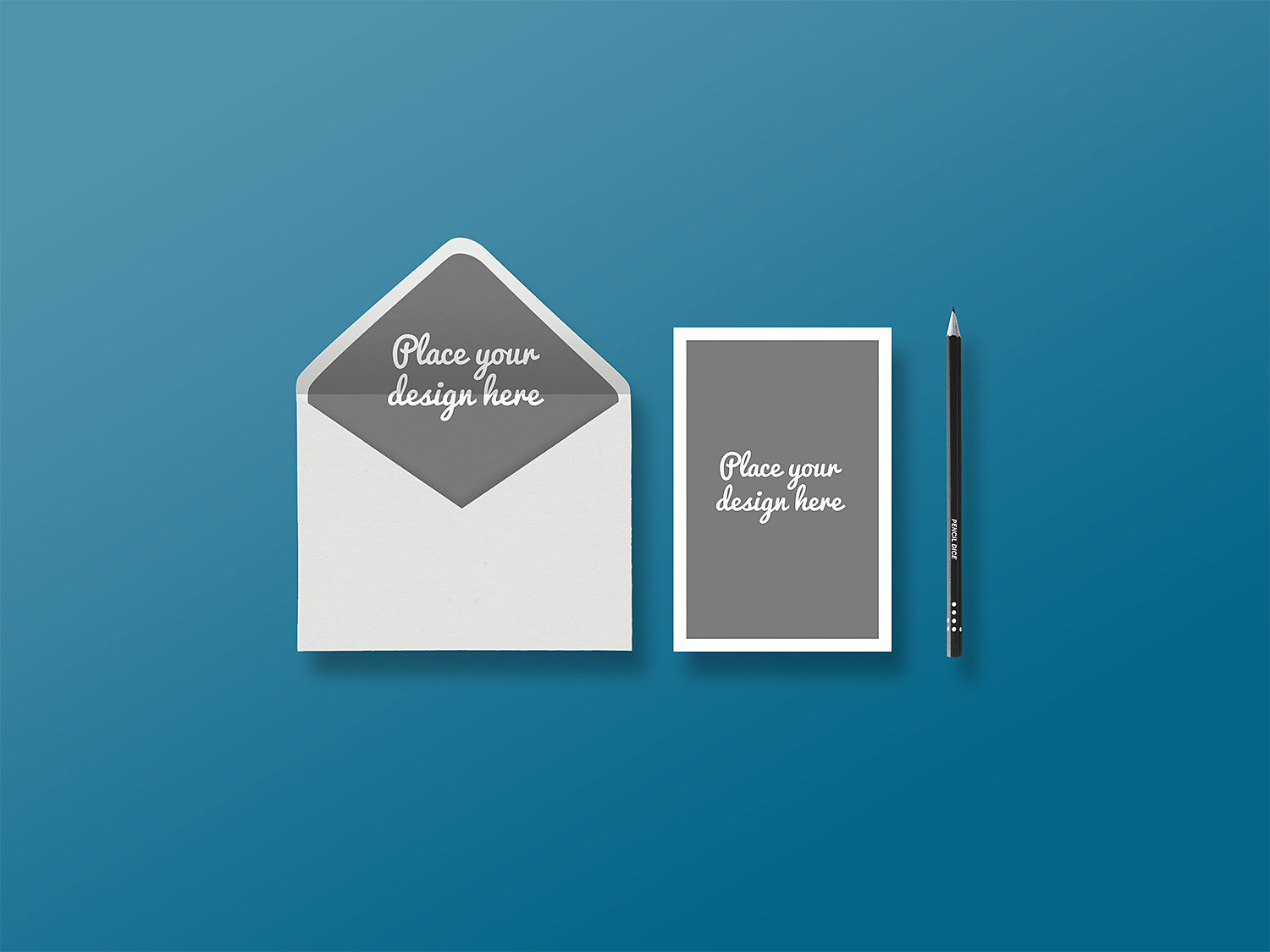 Envelope with Greeting Card Presentation Mockup