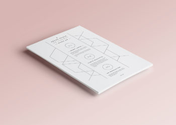 Free A4 Paper PSD Mock-Up