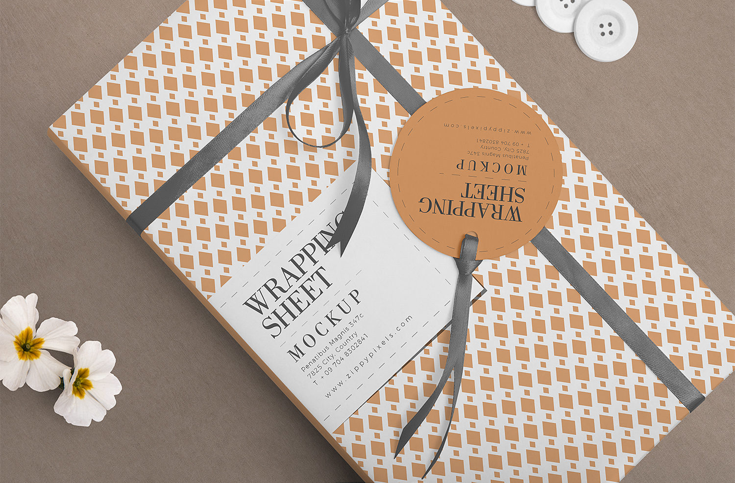 Free Attractive Wrapping Paper Mockup