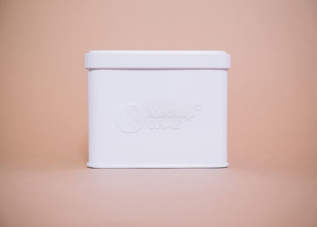 Free Embossed Tin Box Logo Mockup