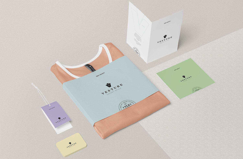 Free Fashion Branding Mockup Scene