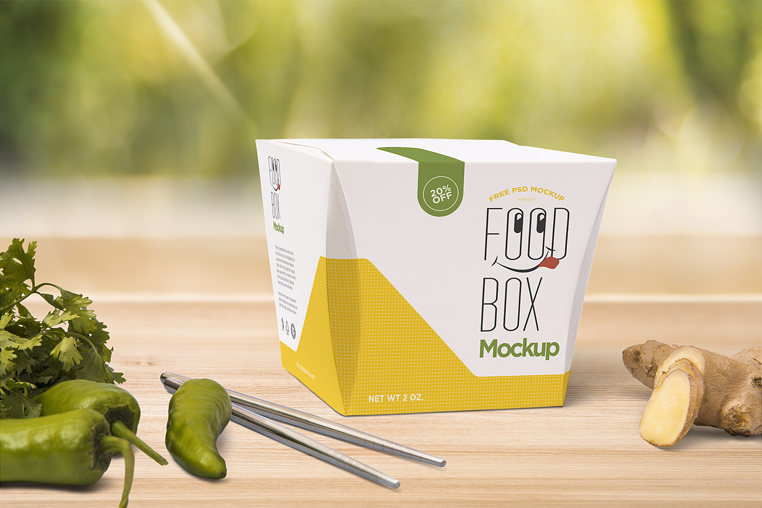 Free Lunch Box Mockup