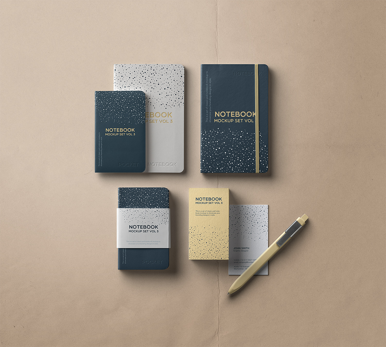 Free Notebook Mockup Set