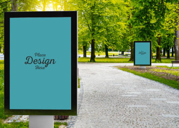 Free Outdoor Advertising City Lights Mockup