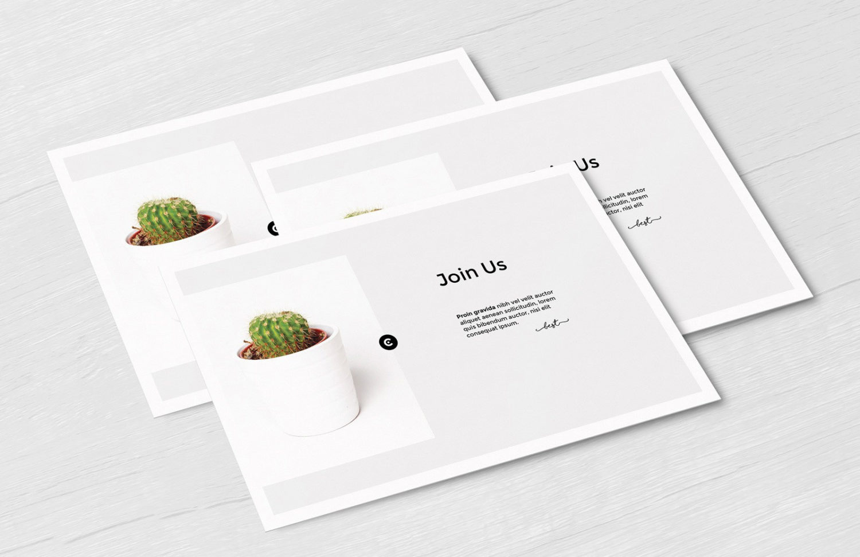 Free Postcard Mockup Set