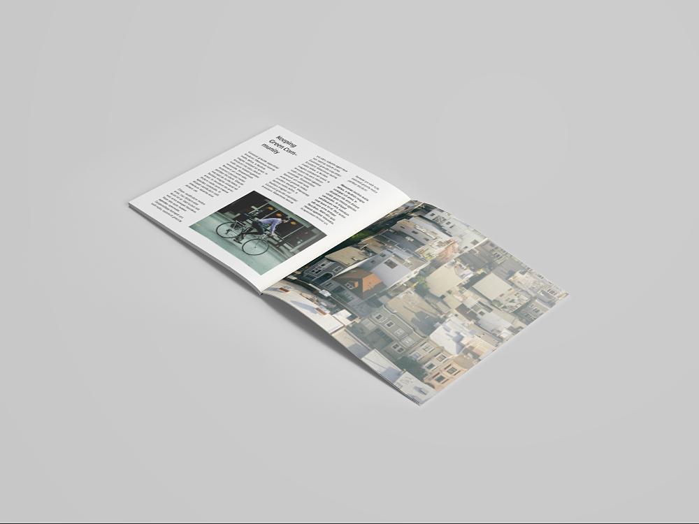 Free Square Magazine Mockup