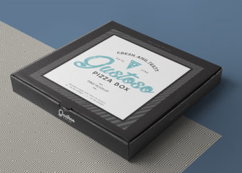 Free Takeaway Pizza Box Mockup