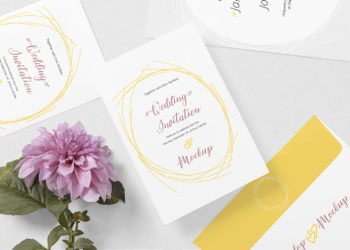 Free Wedding Card Mockup