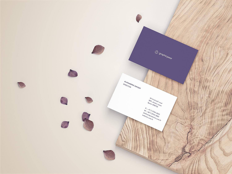 Front & Back Business Card Mockup