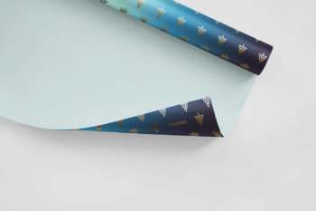 Gift Wrapping Paper Mockup