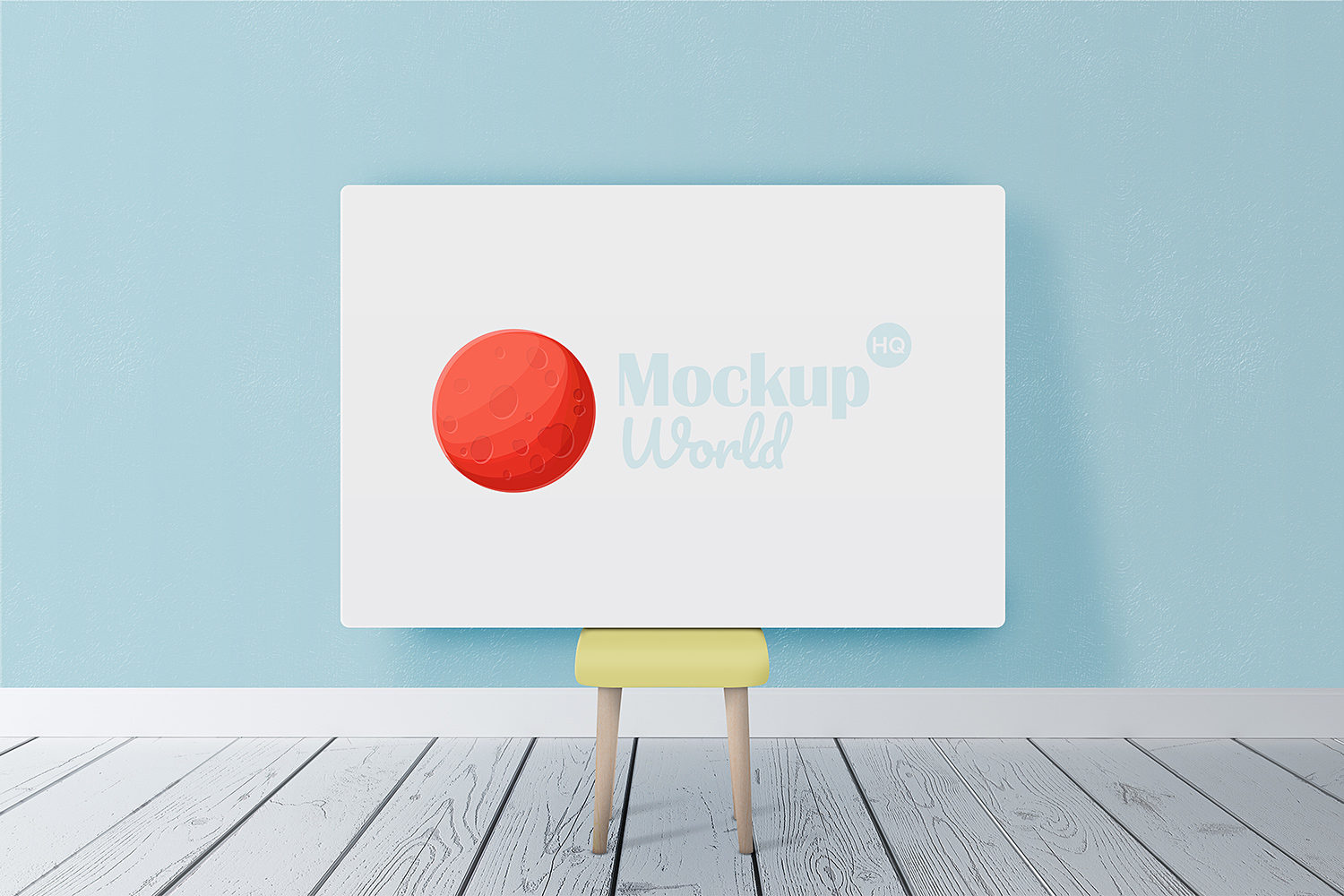 Horizontal Poster Canvas Mockup