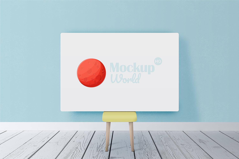 Horizontal Poster Canvas Mockup