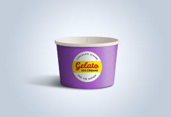Ice Cream Cups Free Mockup