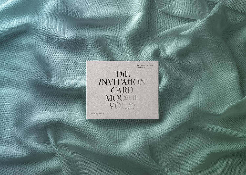Invitation Card Free PSD Mockup