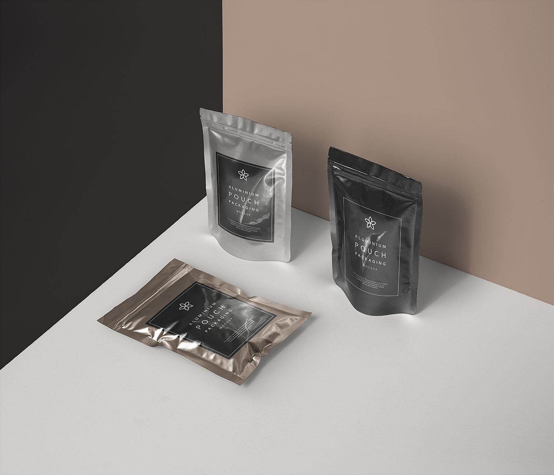 Metal Foil Packaging Free Mockup