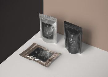 Metal Foil Packaging Free Mockup