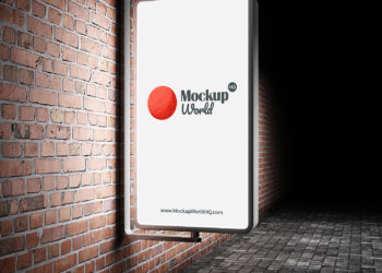 Outdoor Advertisement City Light Free Mockup