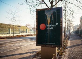 Outdoor Advertising City Light Free PSD Mockup