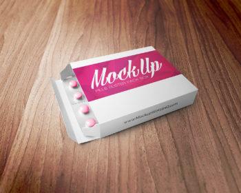 Pills Blister Pack Box Mockup
