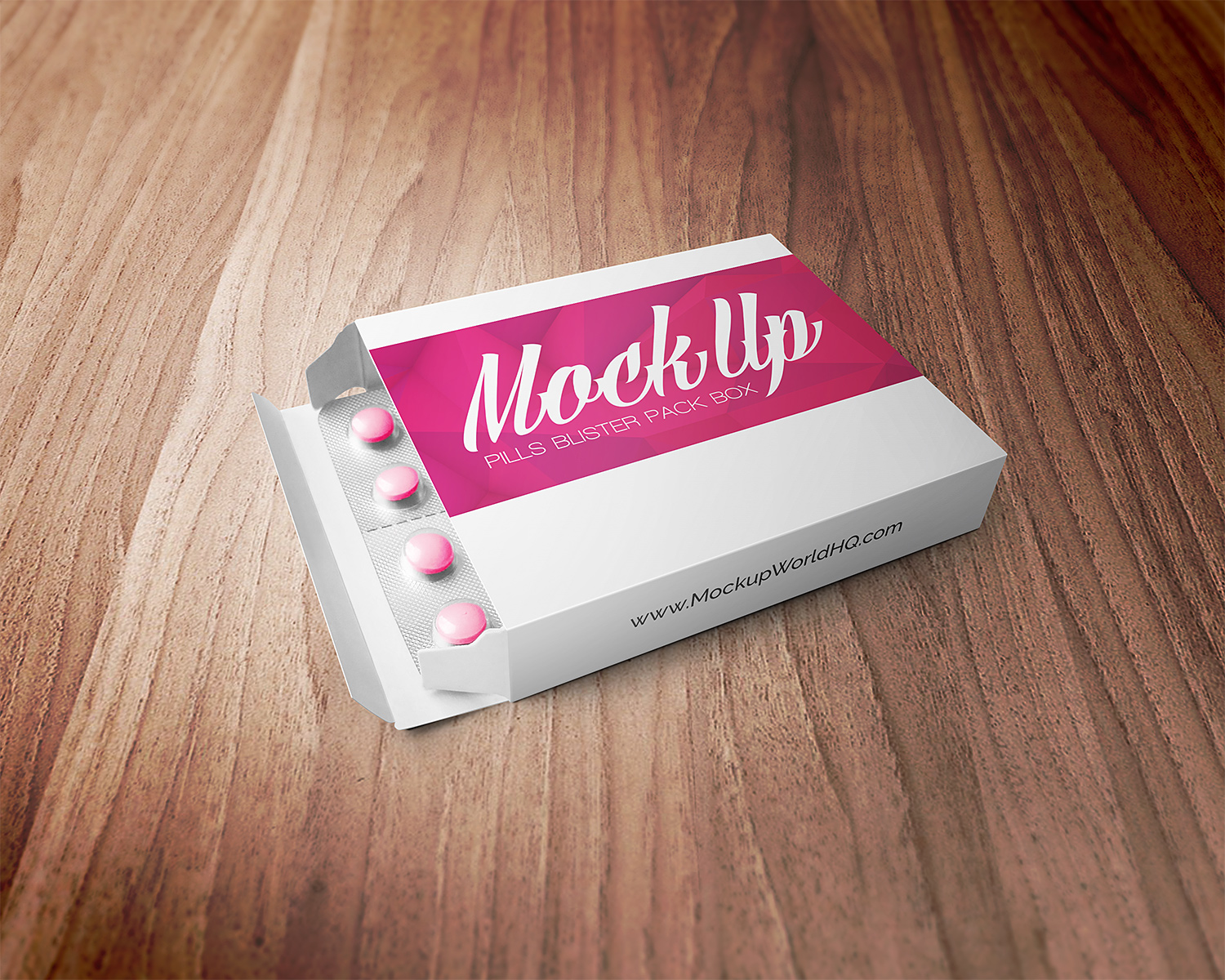 Pills Blister Pack Box Mockup