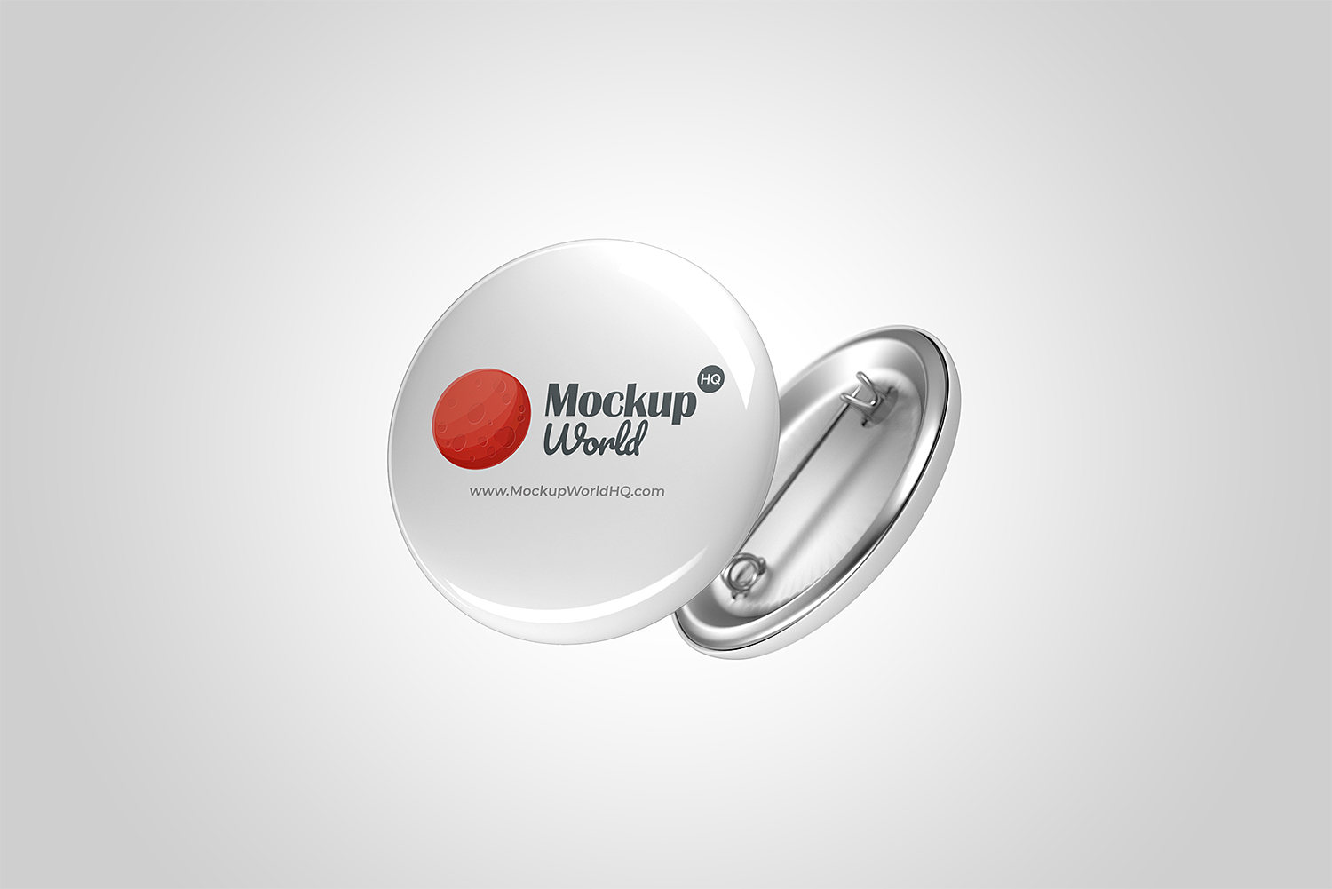 Pin Button Badge Free Mockup