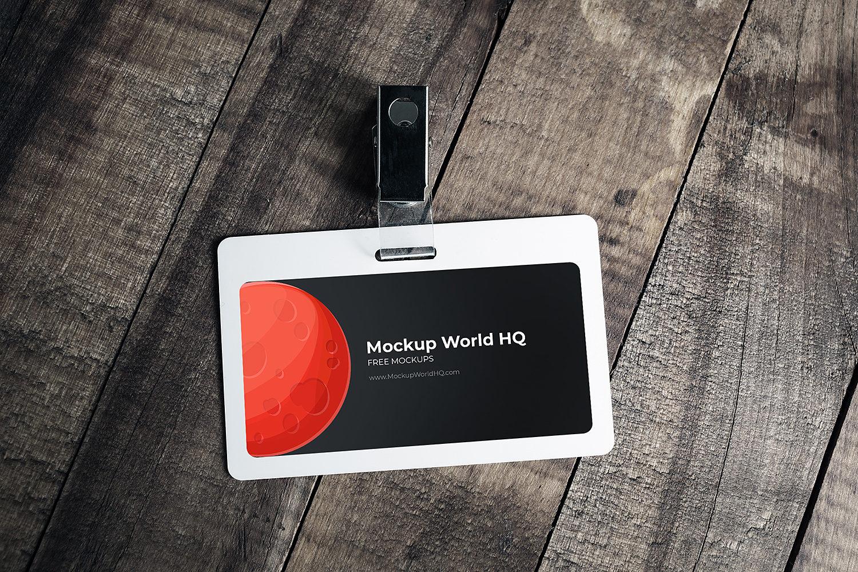 Plastic ID Card Free Mockup