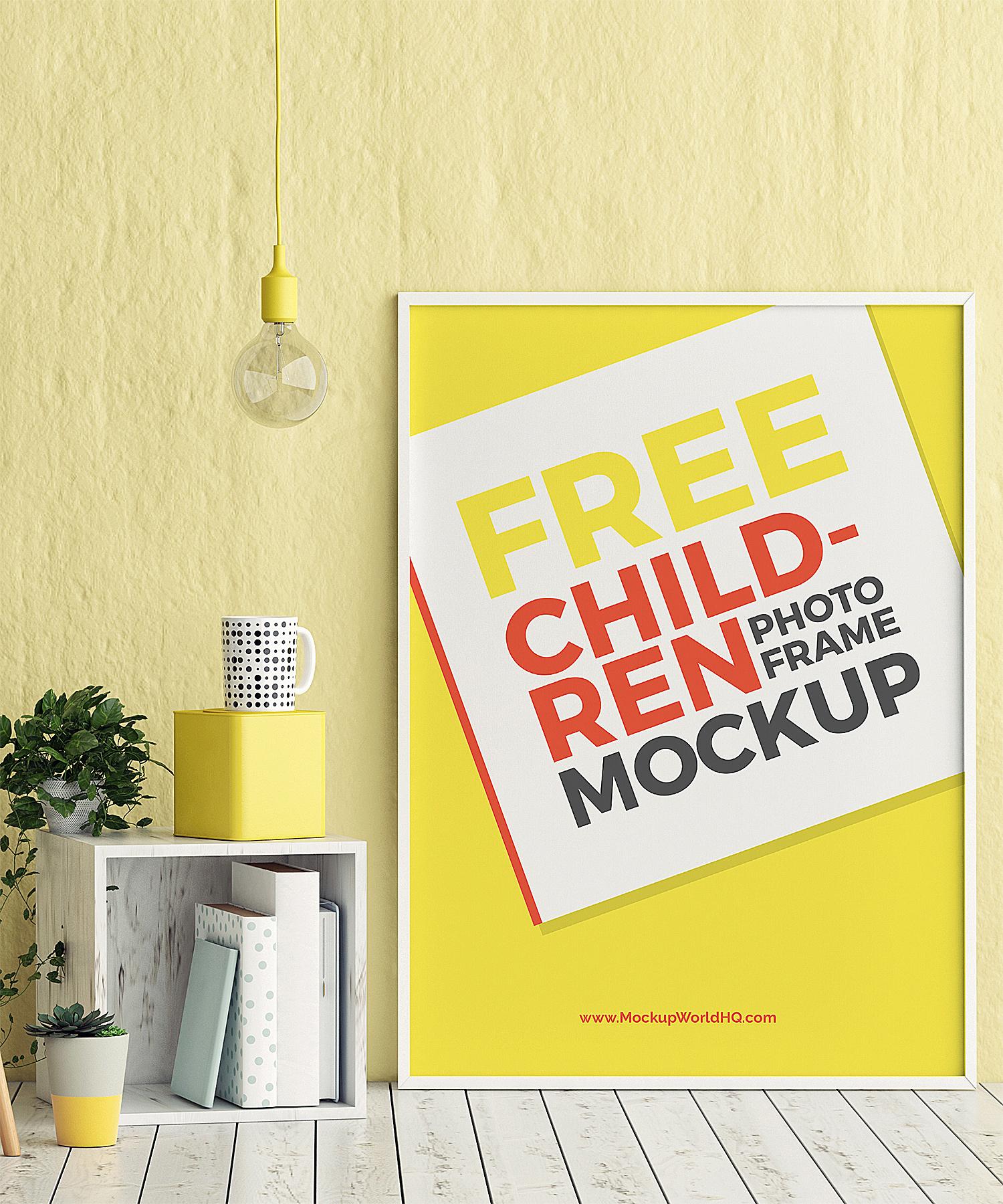 Poster Photo Frame Free Mockup