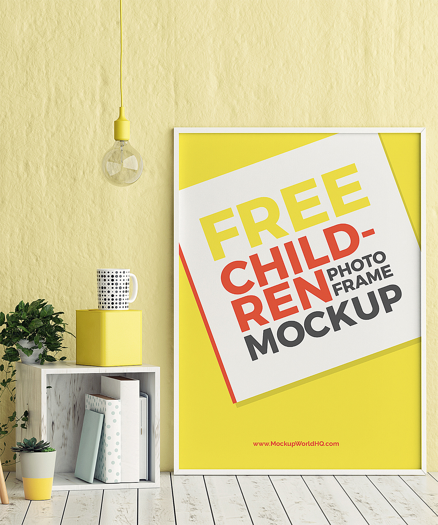 Poster Photo Frame Free Mockup