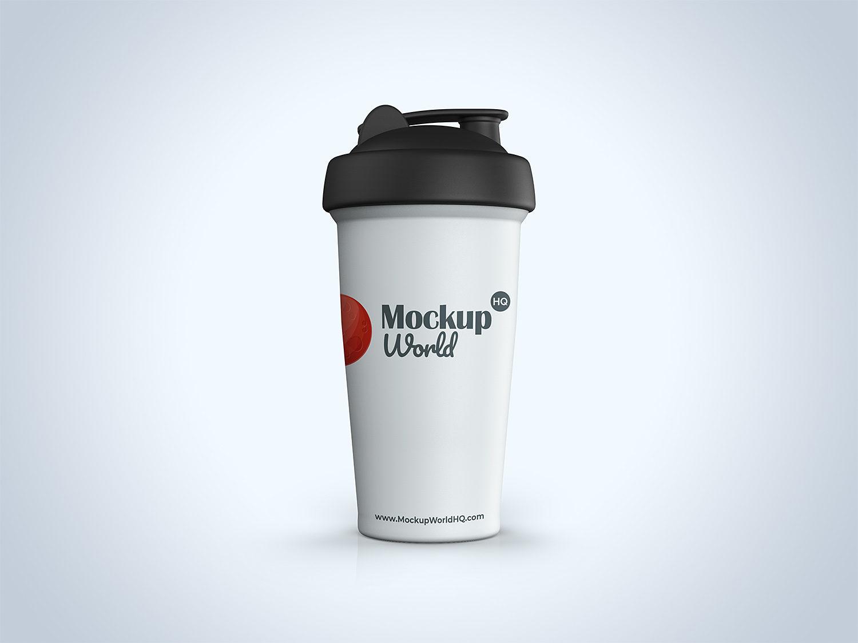 Protein Shaker Bottle Free Mockup