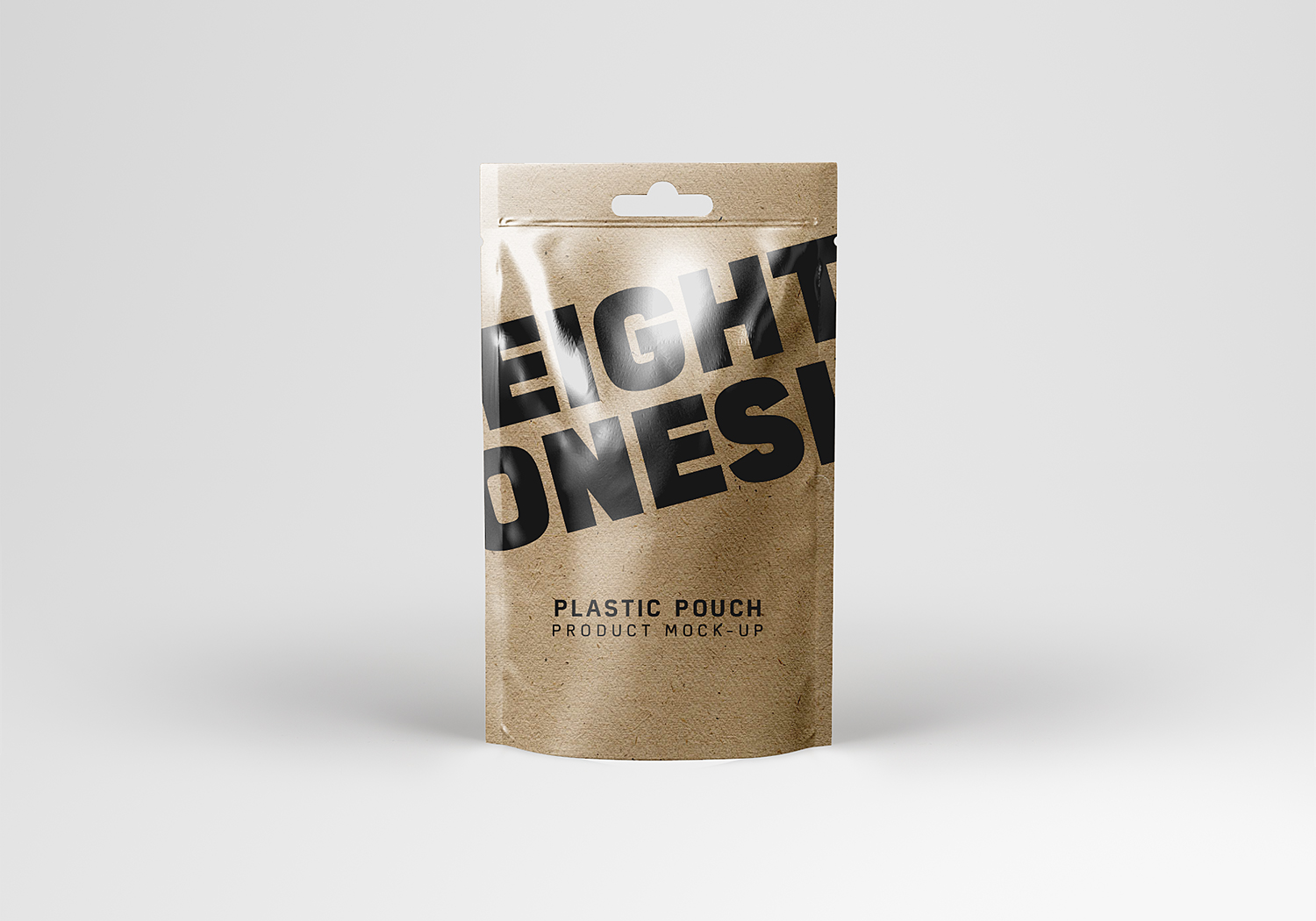 Realistic Plastic Pouch Mockup