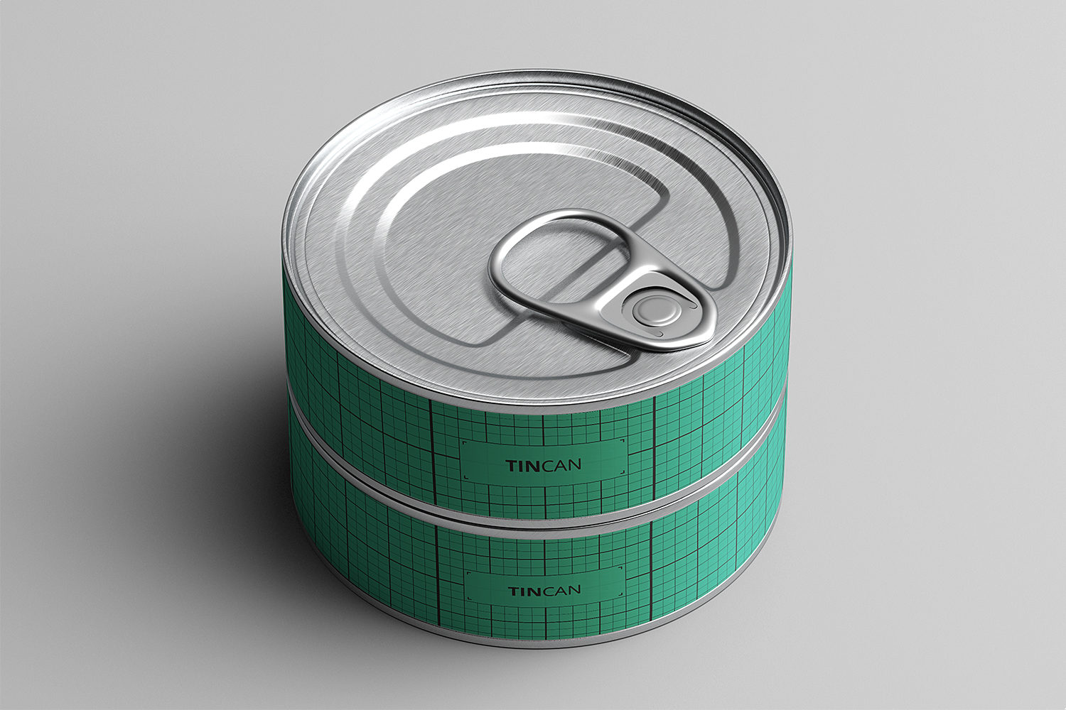 Short Tin Can Free Mockup