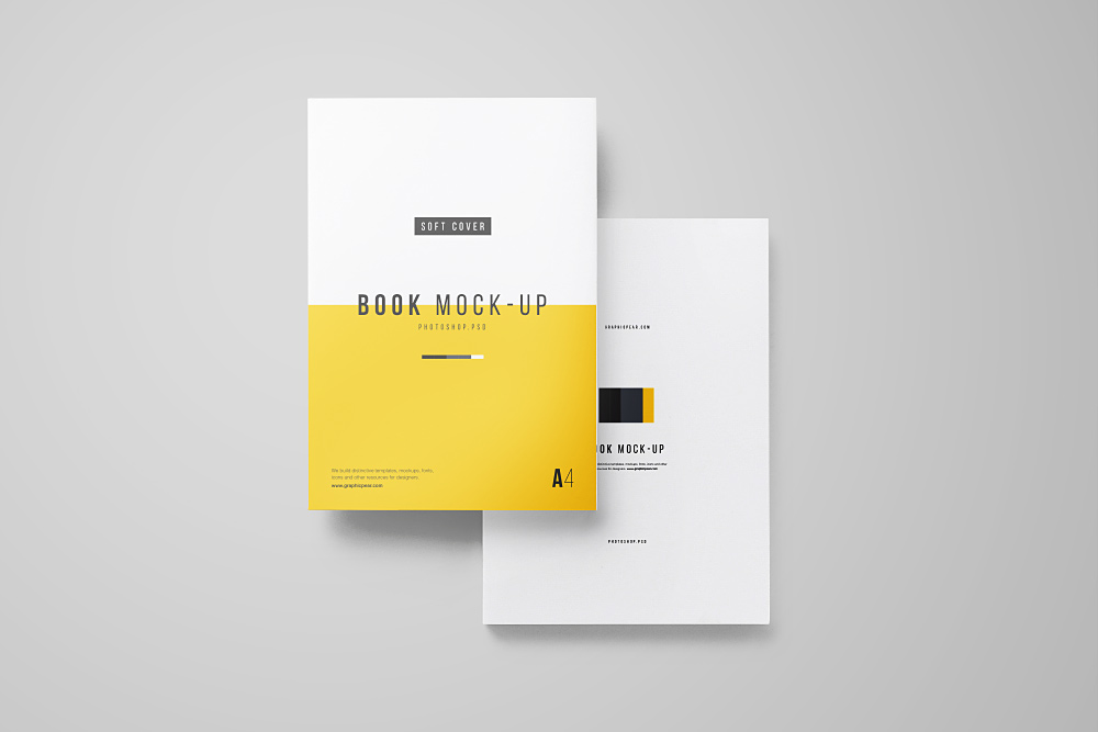 Softcover Book Set Free Mockup