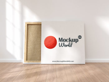 Square Canvas for Oil Painting Free Mockup
